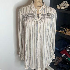 NWT Anthro Floreat smocked blouse, size M